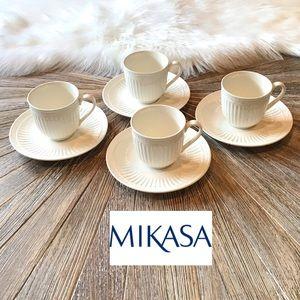 4 MIKASA ITALIAN COUNTRYSIDE CUPS AND SAUC…